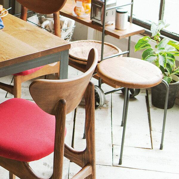 丸椅子 北欧 おしゃれ リビング 1人掛け 丸 イス 椅子 ラウンドスツール スツール 背もたれなし 玄関 レトロ 高さ43cm 腰掛 一人掛けチェア ラフマルスツール ウッド 1P カフェ モダン インテリア 日本製