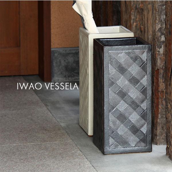 有田焼 磁器 おしゃれ 傘立て オフィス アンブレラスタンド 傘たて 日本製 角 日本製 VESSELA 和風 モダン 焼き物 玄関 IWAO VESSELA AM173W 角 □200×H450, SUNHILLS:7821842e --- ww.thecollagist.com