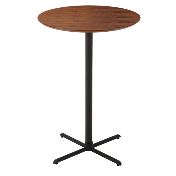 カウンターテーブル カフェテーブル 丸テーブル 木製テーブル ウォールナット 北欧 ハイテーブル モダン バーテーブル カフェ テーブル バーカウンター 円形 直径70cm 高さ100cm サイドテーブル レトロ 丸型 机 デスク おしゃれ ミッドセンチュリー