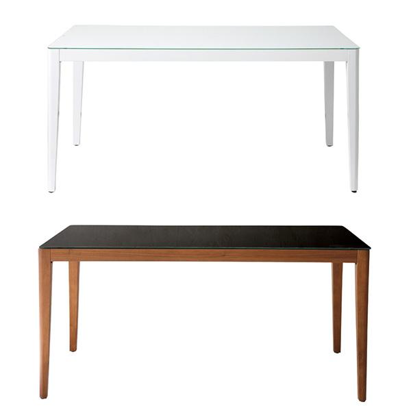 ダイニングテーブル 食卓机 長方形 4人掛け 4人用 ガラステーブル 幅150cm w150 食卓テーブル ホワイト 白 カフェ テーブル 木製 ブラウン 茶 ファミリー インテリア ミッドセンチュリー シンプル モダン レトロ WiTH ダイニングテーブル おしゃれ150