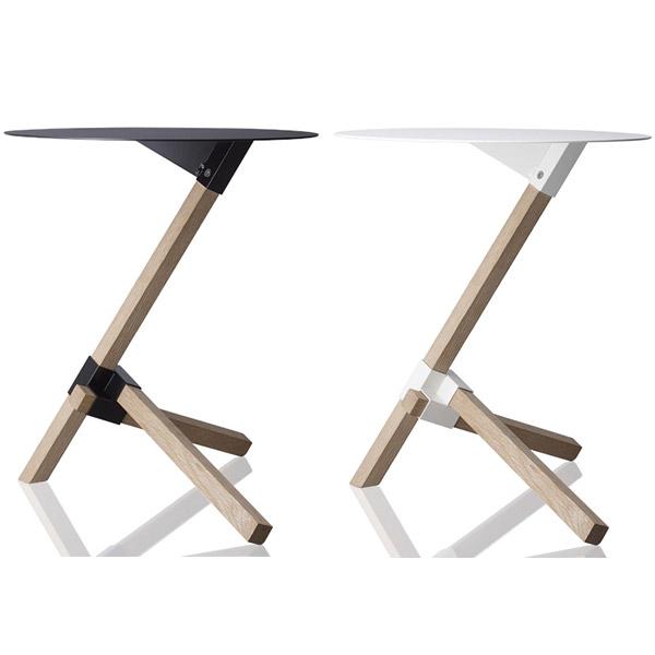 おしゃれ サイドテーブル 丸テーブル ベッドサイドテール ホワイト カフェテーブル 北欧 ミニテーブル 白 ベッドサイド ベッド スタイリッシュ モダン ベッドサイドテーブル インテリア カフェ サロン 美容院 待合室 DU-0210 TRE ブラック DUENDE デュエンデ