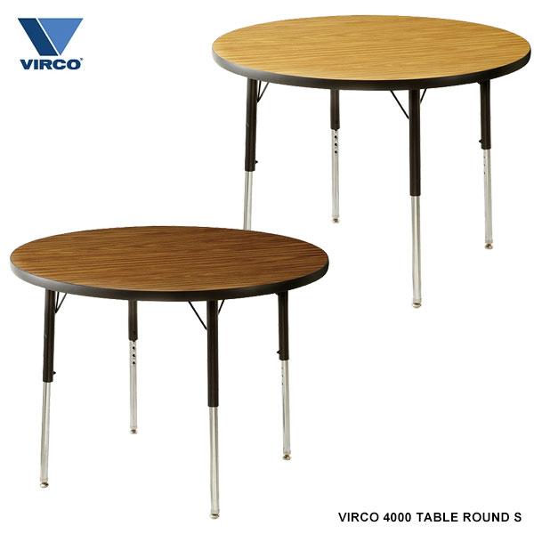 ダイニングテーブル カフェ テーブル 昇降式 丸テーブル 丸型 丸 低め 二人 円形 北欧 木製 高さ調節 オーク材 木目調 食卓テーブル 円卓 単品 ラウンド 食卓 ダイニング 二人用 机 デスク おしゃれ TableRlound 36inch 学校 ダイニング オフィス VIRCO