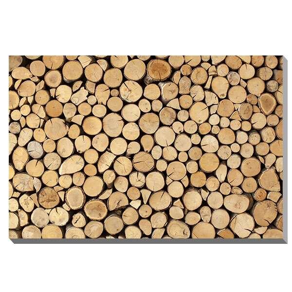 ポスター パネル アートパネル キャンバス おしゃれ カフェ アートポスター 北欧 インテリアポスター ファブリックパネル 壁掛け インテリア雑貨 オブジェ モダン ディスプレイ 店舗 フレーム 壁 木 IAP51593 urbans Wall made of stacked wood