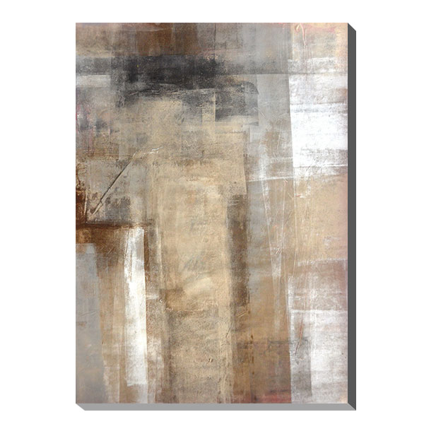 ポスター パネル アートパネル キャンバス インテリア 玄関 北欧 アートポスター ファブリックパネル 壁掛け アート インテリア雑貨 店舗 壁 ペイント モダン 油絵風 抽象画 おしゃれ カフェ カラフル IAP51600 T30 Gallery Brown and Beige Abstract Art Painting