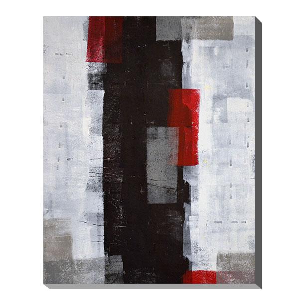 ポスター パネル アートパネル キャンバス インテリア 玄関 北欧 アートポスター ファブリックパネル 壁掛け アート インテリア雑貨 店舗 壁 ペイント モダン 絵の具 油絵風 抽象画 おしゃれ カフェ カラフル Gallery Red and Grey Abstract Art Painting