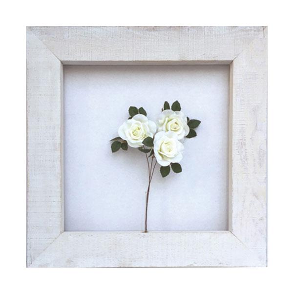白 バラ ホワイト 薔薇 ばら フラワー ローズ 造花 壁掛け フェイクグリーン レトロ 西海岸 カリフォルニア インテリア かわいい 観葉植物 立体 アートパネル パネル フレーム 壁飾り 壁面 フェイク グリーン 壁 おしゃれ インテリア 人工観葉植物 植物 カフェ