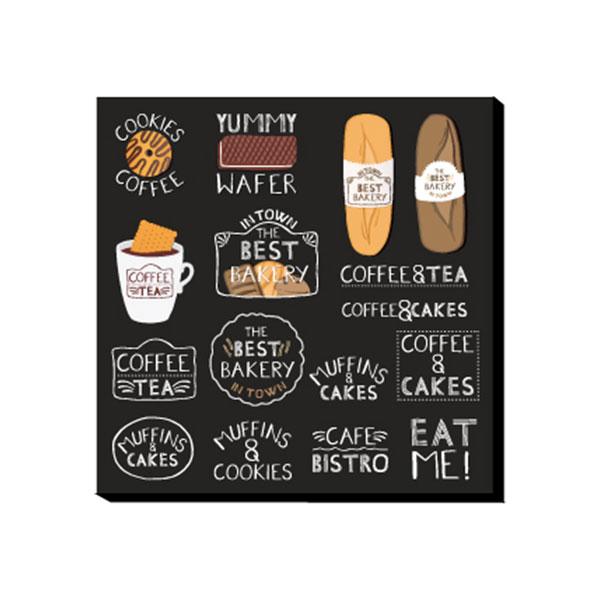 アートパネル カフェ インテリア イラスト 絵 可愛い パン 珈琲 コーヒー ロゴ 英語 英字 絵画 おしゃれ 壁掛け アート ウォールパネル ウォールディスプレイ インテリア雑貨 リビング ダイニング モダン カフェ キャンバス