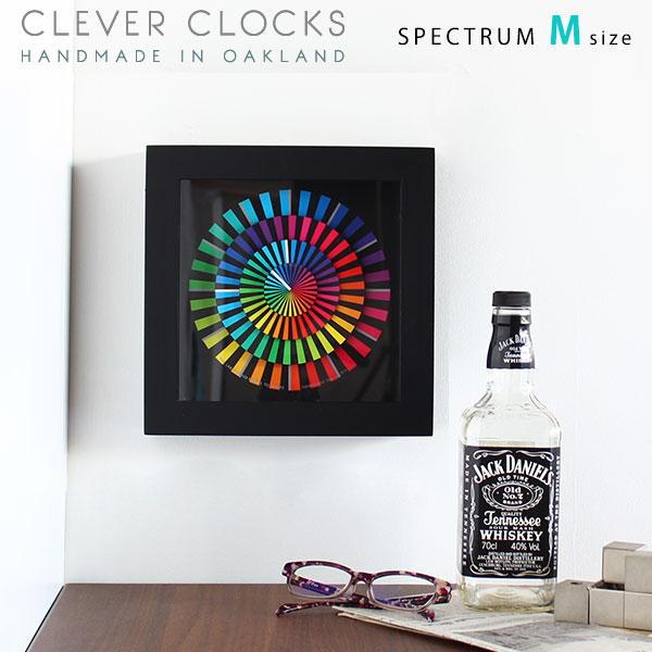 掛け時計 おしゃれ 時計 アナログ 静か スイープムーブメント 幾何学模様 北欧 図形 四角 壁掛け時計 かわいい 立体 個性的 壁掛け 置時計 置き時計 モダン 寝室 プレゼント ギフト 男性 父の日 スペクトラム M アート オブジェ 置き物 幾何学模様