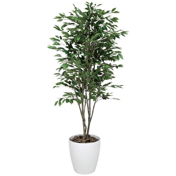 観葉植物 造花 グリーン イミテーショングリーン ベンジャミン 植物 フェイクグリーン 大型 人工観葉植物 インテリアグリーン フェイク リビング おしゃれ オフィス ベンジャミンツリー 高さ180cm アートグリーン 消臭 開
