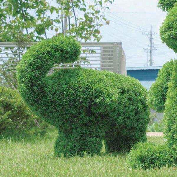 人工観葉植物 植物 インテリアグリーン フェイクグリーン フェイク グリーン オブジェ 動物型 観葉植物 ぞう 象 ゾウ ガーデン 庭 動物 アニマル 屋外 トピアリー アートグリーン プレゼント ギフト 新築祝い 引越し祝い 引っ越し祝い ゾウS 高さ50cm(Sサイズ)