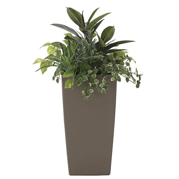 観葉植物 オフィス 玄関 エントランス ロビー リビング カフェ フェイクグリーン 消臭 フェイク 光触媒 インテリアグリーン おしゃれ 植物 植物 人工観葉植物 グリーン アート植栽L 高さ90cm
