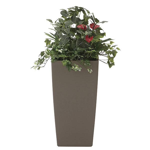 観葉植物 オフィス 玄関 エントランス ロビー リビング カフェ フェイクグリーン 消臭 フェイク 光触媒 インテリアグリーン おしゃれ 植物 植物 人工観葉植物 グリーン アート植栽R 高さ88cm