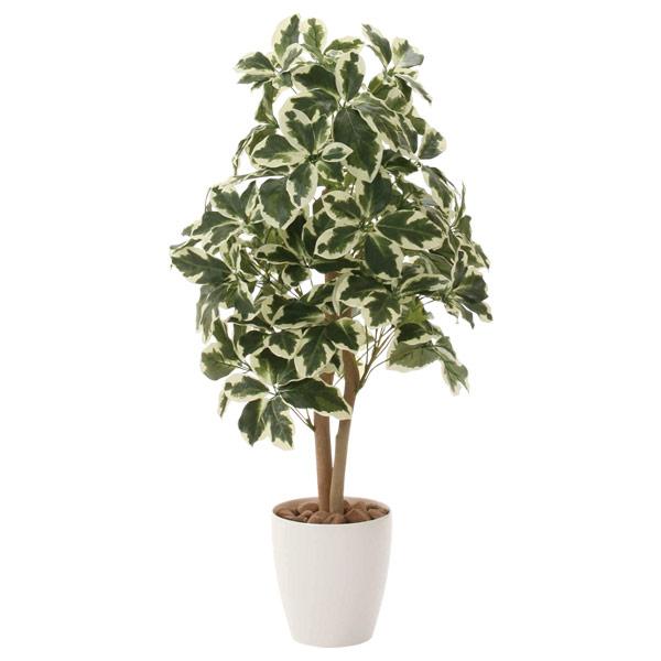 人工観葉植物 インテリアグリーン 光触媒 観葉植物 フェイクグリーン フェイク グリーン インテリア 植物 人工植物 高さ90cm 斑入りシェフレラ90 消臭 抗菌 防汚