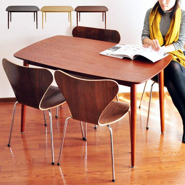 ダイニングテーブル 食卓 木製 2人 2人用 デスク 幅120 アンティーク 北欧 食卓テーブル 二人 ダイニング家具 リビング家具 レトロ カフェテーブル カフェ テーブル モダン ウッドテーブル 机 コンパクト 作業台 DT-12075 ブラウン おしゃれ 高さ72cm