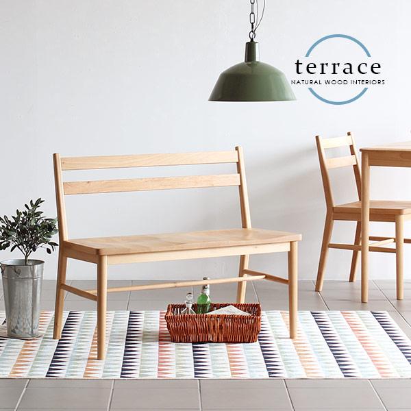 ダイニングチェア ベンチ 背もたれ 北欧 食卓 椅子 ダイニングベンチ 木製 無垢材 ダイニング 天然木 チェア 無垢 シンプル コンパクト 完成品 一人暮らし 家具 ナチュラル カントリー インテリア おしゃれ 新生活 TERRACE