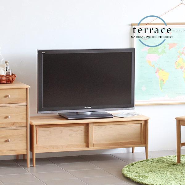 テレビ台 北欧 ローボード 組立不要 幅110 リビング 完成品 テレビボード 無垢材 一人暮らし 家具 天然木 サイドボード AVラック 無垢 シンプル コンパクト tv台 ナチュラル カントリー tvボード おしゃれ TERRACE TVボード110 インテリア