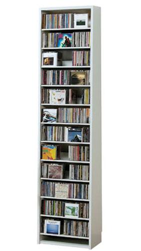 【爆買い!】 スリム ラック CDラック CD収納棚 DVDストッカー DVDラック CD収納ラック CD cd収納 白 収納 ホワイト DVD 白 ラック 大量収納 大容量 白 DVD収納ラック CDストッカー DVDストッカー 薄型 大量 壁面 壁面収納 棚 シンプル 大容量 デザイン 人気 オークス CD収納棚【CD540枚】【DVD232枚】, ココロラBridalギフト&メモリアル:82dae5f6 --- business.personalco5.dominiotemporario.com