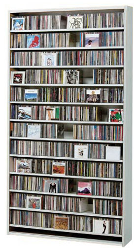 CDラック DVDラック DVD 大容量 CD ラック 収納 CD収納ラック cd収納 棚 ホワイト CD収納棚 DVD収納ラック 白 大型 大量収納 CDストッカー DVDストッカー 薄型 スリム 壁面 壁面収納 シンプル デザイン 人気 オークス 幅100cm 【CD1284枚】【DVD560枚】