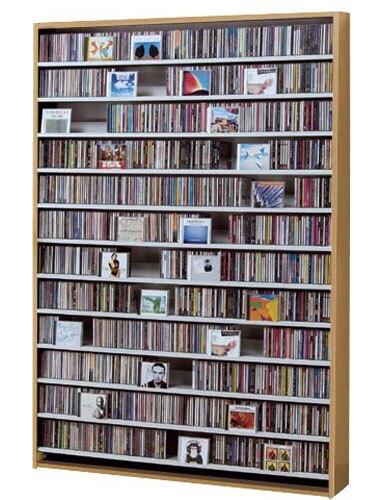 CDラック 【1668枚】 DVDラック 【720枚】 CD DVD 収納 ラック cd収納 ナチュラル 幅140cm ディスプレイ dvd収納ラック 大量収納 CDストッカー DVDストッカー 薄型 スリム 大容量 大量 壁面 壁面収納 棚 シンプル デザイン 人気 オークス