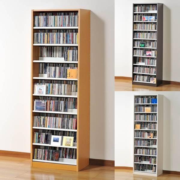 CDラック DVDラック CD収納 大容量 ラック 収納 ホワイト DVD収納ラック 幅60cm CD収納棚 タンデム 収納ラック 奥行き2段式 CDストッカー ナチュラル ウォルナットダーク 奥深 大量収納 壁面収納 CD DVD シンプル すっきり スタイリッシュ インテリア 家具 TANDEM