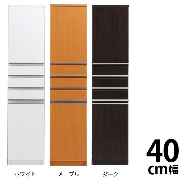 ラック 幅40 スペースボード すきま収納 40cm 板戸タイプ B スライドストッカー40 白 幅40cm 隙間収納 ホワイト 収納扉付き 隙間 すきま キッチン収納 シンプル キッチン 収納 完成品 日本製 キッチンすきま収納 隙間家具 家具 インテリア