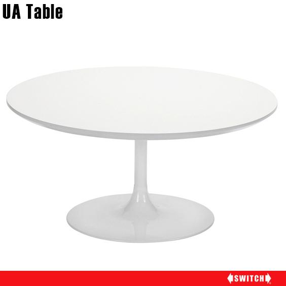 ローテーブル 白 ホワイト 円形 丸テーブル 丸型テーブル 二人用 ナチュラル 円形テーブル テーブル ラウンド 80cm 一人暮らし ラウンドテーブル 円 デザイン リビングテーブル 食卓テーブル 食卓 食事テーブル 丸型 天板 円卓 カフェ SWITCH 日本製 おしゃれ UA 80