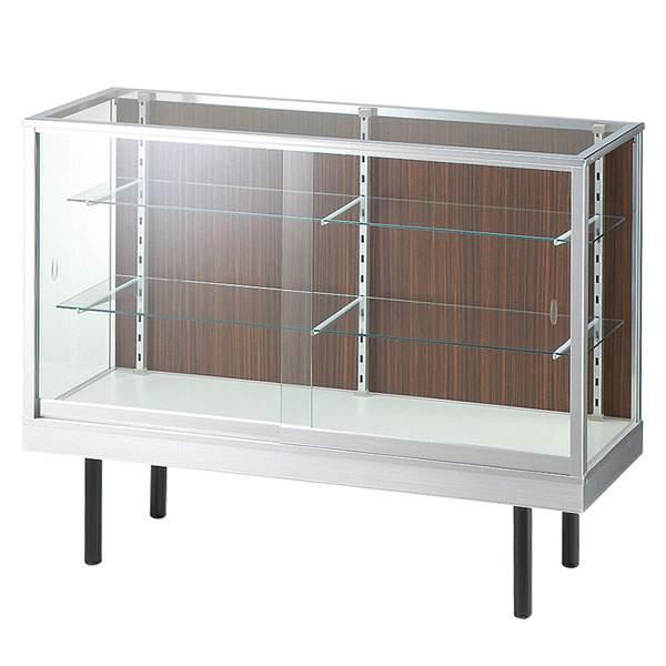 コレクションケース ガラス ショーケース ロータイプ ガラスケース ディスプレイケース ガラスキャビネット ガラスショーケース 幅120cm コレクションラック アルミ キュリオケース 棚 コレクション 横型 Glass show case 平ケース SWITCH ブランド おしゃれ 120