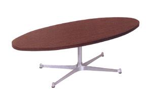 ローテーブル 木製 楕円 楕円テーブル センターテーブル オーバル リビングテーブル デスク 120 テーブル 高さ40 一人暮らし 120cm カフェ 幅120 おしゃれ リビング モダン レトロ アルミ脚 ナチュラル インテリア SWITCH デザイナーズ ブランド TA