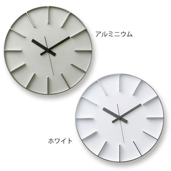 時計 壁掛け時計 掛け時計 掛時計 Lemnos 寝室 スイープ レムノス クロック アルミ製 壁掛け デザイナー かけ時計 アナログ時計 スイープムーブメント 壁 音がしない インテリア おしゃれ連続秒針 ギフト プレゼント 贈り物 edge clock AZ-0115 350mm幅