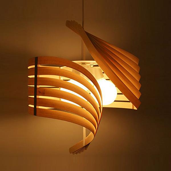 ペンダントライト ペンダント 和風照明 ライト 木製 和風 和室 和 Flames おしゃれ モダン DP-052 Plume