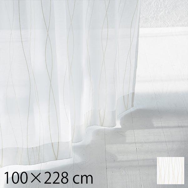 レースカーテン 柄 既製レースカーテン タッセル 北欧 幅100 Rio 100×228cm 2枚入り 日本製 生地 ホワイト 白 おしゃれ 2枚組 ナチュラル モダン 既製品 カーテン 既成カーテン リビング 新生活 QUARTER REPORT