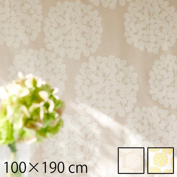 カーテン ドレープカーテン 2枚組 セット 北欧 タッセル ドレープ 花 柄 花柄 幅100 100×190cm おしゃれ オシャレ かわいい 可愛い 子供 子供部屋 女の子 柄物 モダン 日本製 アイボリー イエロー Float (フロート) ~漂う~ 2枚入り