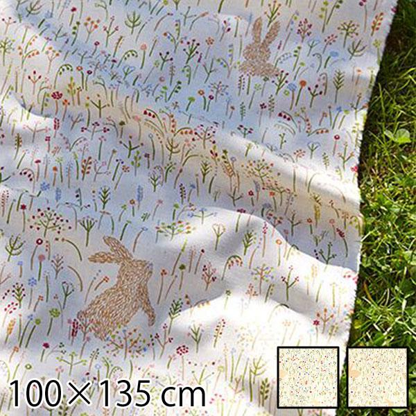 カーテン 既成ドレープカーテン ウサギ 100×135cm ラビット 北欧 ホワイト ナチュラル QUARTER REPORT Six Rabbits ロッピキノウサギ 日本製