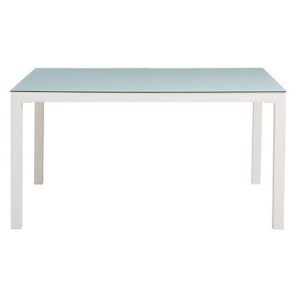 ダイニングテーブル ガラス 4人 ガラステーブル 135cm 4人掛け モダン カフェ風 ダイニング おしゃれ テーブル ホワイト 食卓 食卓テーブル 単品 シンプル 食事 リビング リビングテーブル 白 135 机 つくえ インテリア ダイニング家具 デザイン 家具
