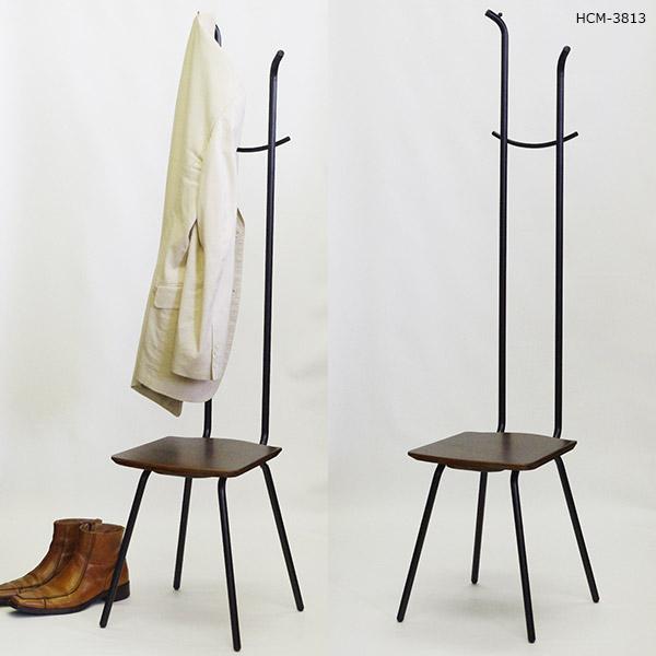 玄関イス 腰掛け いす チェア 椅子 コートハンガー ハンガーチェア かばん掛け 帽子掛け ハンガーラック コート掛け 玄関