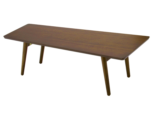 センターテーブル 120 リビングテーブル ウォールナット 折りたたみ 高級感 emo 折りたたみテーブル テーブル 折り畳みテーブル ブラウン 木製テーブル 幅120 一人暮らし 台形 ローテーブル 木製 木目調 折り畳み 机 ミッドセンチュリー レトロ emo