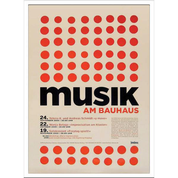 アートポスター 北欧 ポスター 壁飾り 額絵 インテリア 雑貨 アート デザインパネル パネルアート アートパネル アートフレーム 額付き ウォールアート ウォールデコ モダン 壁 飾る Bauhaus IBH 70044 Musik am Bauhaus2 ギフト