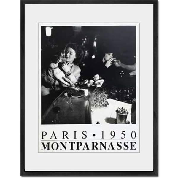 アートパネル パリ モンパルナス アートフレーム アートポスター 壁掛け アート パネル ウォールパネル ポスター 雑貨 白黒 レトロ モダン インテリア 壁 飾る 壁面 絵 寝室 リビング アンティーク プレゼント ギフト IPG51322 PARIS.1950 MONTPARNASEE