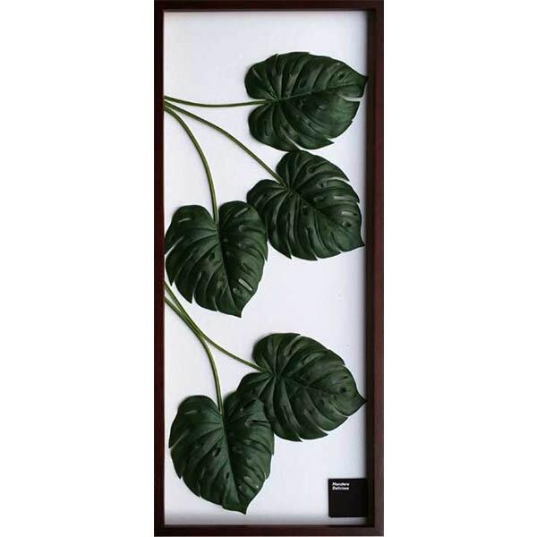 モンステラ リーフパネル パネル 壁掛け アート 葉 グリーンパネル アートパネル 人工観葉植物 額 モダン 植物 インテリアグリーン イミテーション シンプル 北欧 インテリア ナチュラル リビング 引っ越し祝い 新築祝い プレゼント