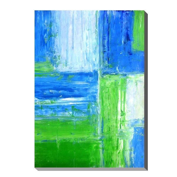 アートパネル アート キャンバス デザイン 北欧 おしゃれ モダンアート 壁面 パネル ウォールパネル インテリアパネル フレーム 壁 モダン インテリア プレゼント ギフト 引越し祝い 新築祝い 開店祝い IAP51602 T30 Gallery Blue and Green Abstract Art Painting