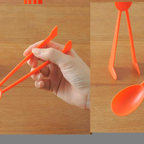 ピクニック スプーン カトラリー アウトドア カラフル スタンドカトラリーセット フォーク ベージュ オレンジ ライトグリーン