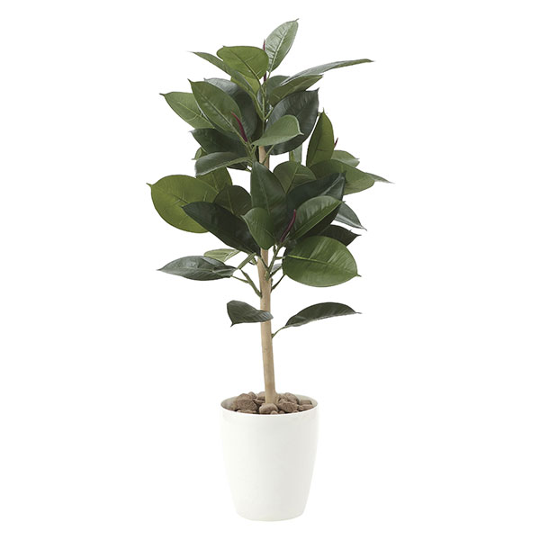 光触媒 観葉植物 イミテーション インテリア 記念日 フェイクグリーン 植物 抗菌 枯れない 人工観葉植物 ギフト 母の日 祝い 消臭 贈り物 高さ90cm フェイク ゴムの木90 おすすめ リビング