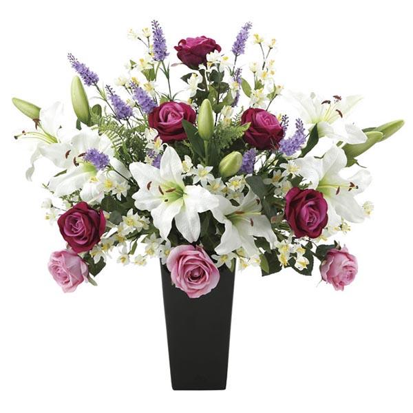 カサブランカ 光触媒 造花 開店祝い インテリア 花 贈り物 観葉植物 母の日 枯れない プレミアムカサブランカ 記念日 祝い ギフト 消臭 抗菌 アートグリーン おすすめ リビング