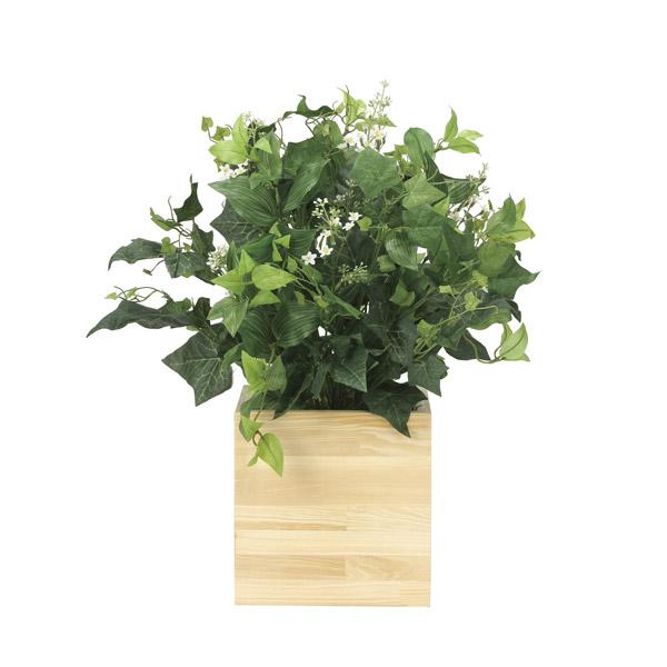 人工観葉植物 光触媒 観葉植物 フェイクグリーン インテリア 人工植物 高さ50cm 消臭 抗菌 防汚 ボックスウッド