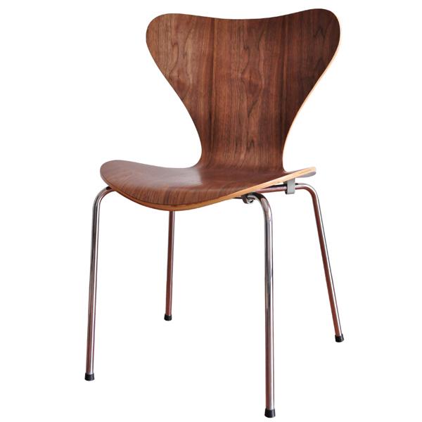セブンチェア リプロダクト 木製 アルネヤコブセン チェア デザインチェア ジェネリック家具 ダイニングチェア ダイニング用 ヤコブセン 木製イス 天然木 ウォールナット デザイナーズチェア セブンチェアー 椅子 イス 北欧 アルネ おしゃれ インテリア 家具 SC-07