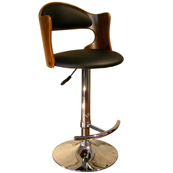 カウンターチェア 背もたれ付き ブラウン 椅子 木製 昇降 チェア 1人用 バーカウンターチェア 昇降式 カウンターチェアー 背もたれ バーチェアー 腰掛 バーチェア カウンタースツール カウンター モダン おしゃれ いす イス B-003 Steed