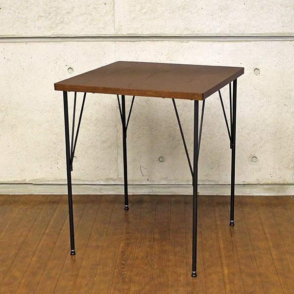 ダイニングテーブル 小さいアイアン コンパクト 60cm ヴィンテージ 60 木目 カフェテーブル 食卓テーブル レトロ 2人 2人用 おしゃれ 二人用 アンティーク 単品 正方形 二人 モダン ダイニング アンティーク調 カフェ風 テーブル 一人暮らし 1人