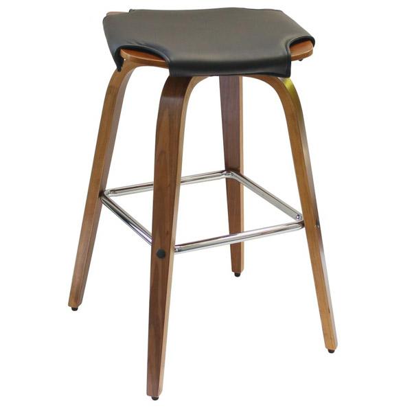 カウンターチェアー 回転 バーチェア おしゃれ キッチンチェア カバー ハイスツール 木製 スツール バースツール ハイチェア レザー 座面 ウッド ハイチェアー カウンターチェア 合成皮革 カウンター 椅子 回転椅子 ブラック ブラウン カフェ風 Steed B-680-S