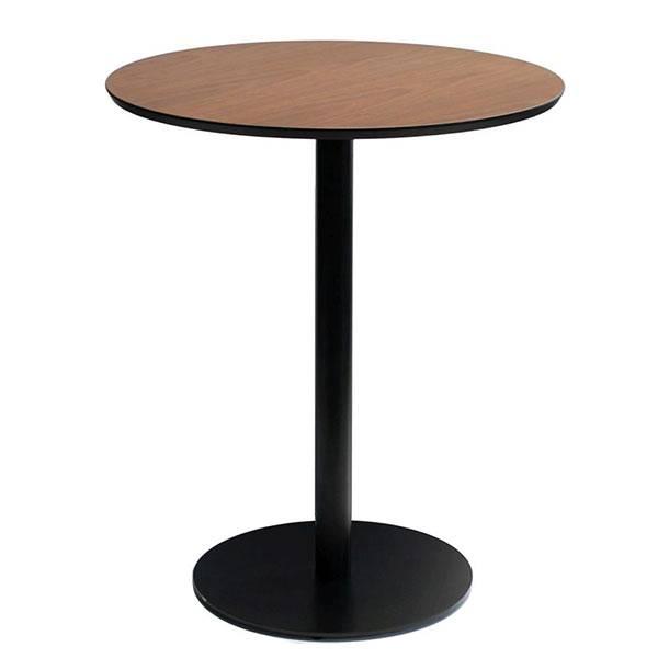 カウンターテーブル ウォールナット 丸 円形 テーブル 丸型 バーテーブル カフェテーブル 木製 バーカウンターテーブル アイアン 丸テーブル 60 ハイテーブル 北欧 インテリア コーヒーテーブル 家具 木 アンティーク 円形テーブル 鉄脚 カウンター デスク