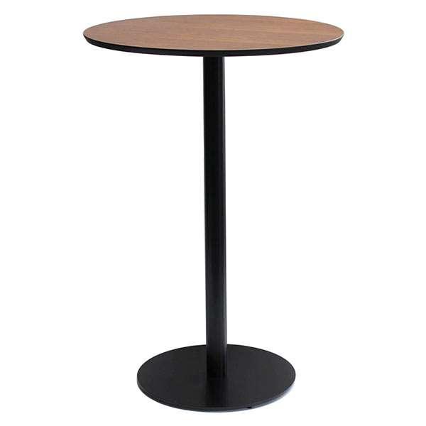 カウンターテーブル 丸 テーブル ハイテーブル 丸型 バーテーブル 丸テーブル 60 カフェテーブル ラウンドテーブル 木 木製 北欧 円形 机 ウォールナット アイアン アンティーク 円形テーブル 鉄脚 カウンター デスク インテリア 家具 BAT-608CT Bardi